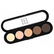 Палитра теней, 5 цветов Make-Up Atelier Paris T22 натуральные коричневые тона: фото