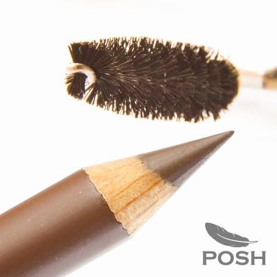 Пудровый карандаш для бровей POSH BW1 для блондинок: фото
