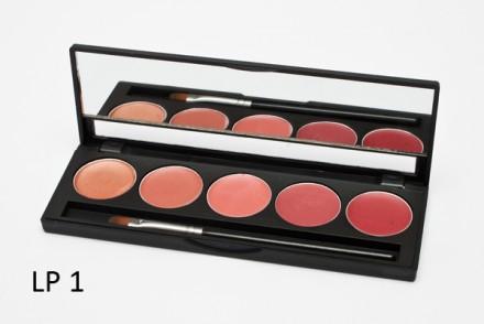 Палитра помад 5 оттенков 5 Lip Palette MAKE-UP-SECRET LP1: фото