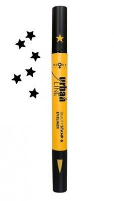 Подводка для век и штамп Bronx Colors Urban Line Beauty Stamp & Eyeliner STAR USE01: фото