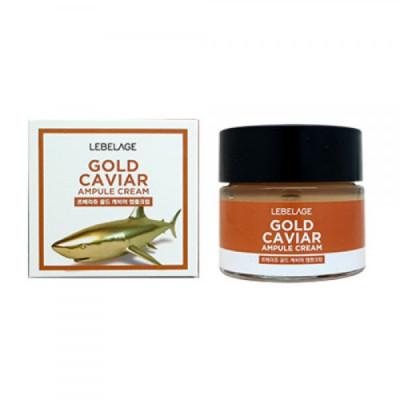 Крем для области вокруг глаз с экстрактом икры, 70мл, LEBELAGE Gold Caviar Ampule Cream: фото