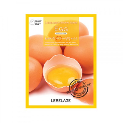 Тканевая маска с экстрактом яйца Lebelage Egg Natural Mask, 23г: фото