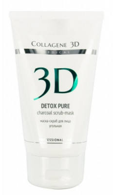 Маска-скраб угольная Collagene 3D Detox Pure 150 мл: фото