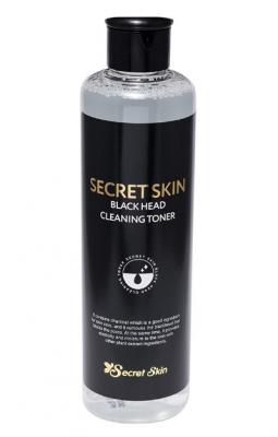 Тонер для лица с древесным углем SECRET SKIN BLACK HEAD CLEANSING TONER 250мл: фото