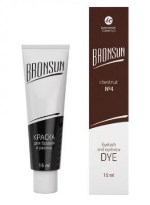 Краска для ресниц и бровей BRONSUN #4 каштан 15мл: фото