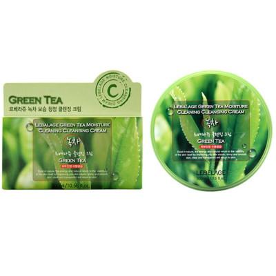 Крем для снятия макияжа с экстрактом зеленого чая LEBELAGE Green Tea moisture cleansing cream 300мл: фото